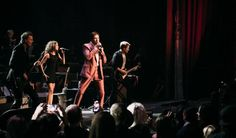 Duran Duran, performs at the David Lynch Foundation Music Celebration at the Theatre at Ace Hotel on Wednesday, April 1, 2015, in Los Angeles.