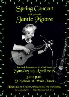 Spring Concert with Jamie Moore at St Nicholas-at-Wade church, 29 April 2018
