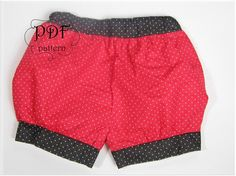 Toddler Girl Bubble Shorts PDF Sewing Pattern by IndiPatterns