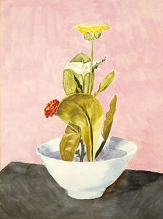 Bowl of Flowers, 1918, Morton L. Schamberg, watercolor and pencil on paper, 12 1/8 x 9 1/8 in. (30.8 x 23.2 cm), Smithsonian American Art Museum, Bequest of Jean L. Whitehill, 1986.27