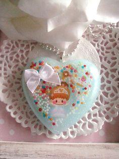 Kawaii Sprinkle Princess Resin Necklace