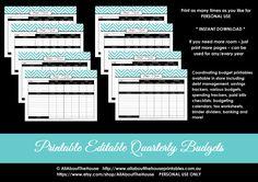 EDITABLE LIGHT BLUE Budget Planner Printables - Instant Download - AllAboutTheHouse