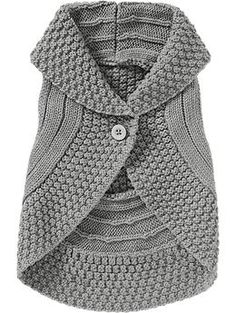 Shawl-Collar Sweater Vests for Baby | Old Navy    I've really been wanting to make one of these, and this really doesn't look THAT hard to make, just a series of seed stitch, knit and purl rounds