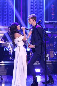 Camila and MGK on Jimmy Fallon performing Bad Things Pinterest: @Kayla5H