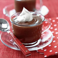 Chocolate Mint Pudding | Great for inside éclairs. Can sub peppermint schnaps for tea. Great pudding base in general.