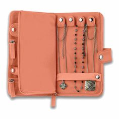 Leather travel jewelry case $21... so much easier for traveling.