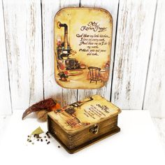Set for kitchen  Blessed kitchen / Box for by Alenahandmade, $45.00