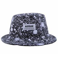 The Giant Peach - Acrylick - Galaxy Men s Bucket Hat. Black e20a4b038dfc