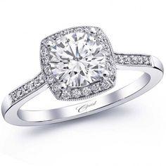 Coast Cushion Halo Fine Pave Milgrain Diamond Engagement Ring · LC5391 · Ben Garelick Jewelers