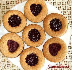 Teljes kiőrlésű linzer Diabetic Recipes, Diet Recipes, Healthy Recipes, Healthy Food, Diabetic Friendly, Pavlova, Biscotti, Food To Make, Cheesecake