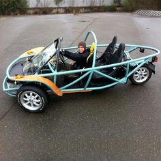 3 Wheeled Road Buggy - DIY Electric Car Forums Source by Diy Electric Car, Electric Trike, Electric Vehicle, Buggy, Plymouth Road Runner, Tricycle Bike, Reverse Trike, 3rd Wheel, Pedal Cars