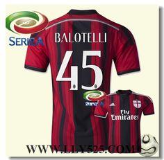 Nouveau Maillot de foot AC Milan Vierge 2014 2015 Domicile du www.lly525.com,Maillot de foot AC Milan