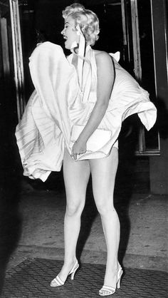 "Marilyn Monroe on the set of ""The Seven Year Itch"" 1955"