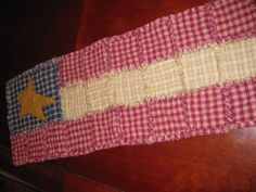 Americana Rag Quilted Table Runner