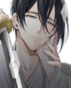 Touken ranbu All Anime, Anime Guys, Anime Art, Touken Ranbu Mikazuki, Token, Mutsunokami Yoshiyuki, Video Game Anime, Boy Drawing, Shall We Date