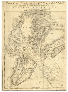 port royal sc 1777 map revolutionary war survey by british navy des barres