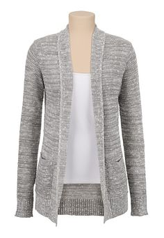 Textured Open Stitch Cardiwrap with pockets (original price, $34) available at #Maurices
