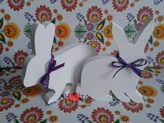 Białe zajączki Wielkanocne