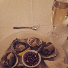 Champagne and Oysters at Boulcott Street Bistro in Wellington, NZ