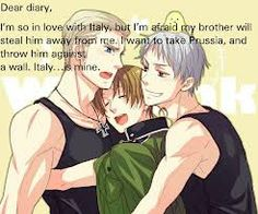 hetalia diaries...possessive germany  and just so you know prussia has his eyes set on canada.