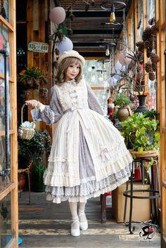 Fantastic Wind -Milky Way Star Chips- Sweet Classic Lolita Apron and Cover-up Dress,Lolita Dresses, Harajuku Fashion, Kawaii Fashion, Lolita Fashion, Girl Fashion, Fashion Outfits, Harajuku Girls, Rock Fashion, Fashion Styles, Fashion Boots