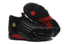 "hot sale online aa26b 4e7a2 Girls Air Jordan 14 Retro GS ""Last Shot"" Black-Red"
