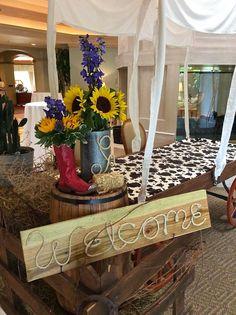 Western Party Decor And Themed Floral Arrangement Designed By Steven Bowles Creative Naples Florida Event Designer