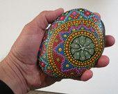 ★ Painted Stone Mandala  #stone #mandala