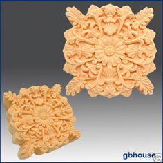 Product description:   Material: Flexible Silicone Mold   Name: Silicone Soap Mold ndash Shell and Leaf Rosette    This exquisitely intricate rosette features a fine shell and leaf design with sculpted leaves at the corners. Finished soa...