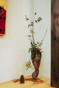 流木の花器 2005-10