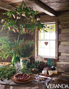 Rustic Chic New Year's Lunch with Aerin Lauder {designed by the one and only The Bridgehampton Florist ~ Michael Grimm and Jim Osburn}