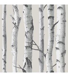 Brewster Home Fashions 'Birch Tree' Peel & Stick Vinyl Wallpaper Vinyl Wallpaper, Birch Tree Wallpaper, Grey Wallpaper, Self Adhesive Wallpaper, Peel And Stick Wallpaper, Embossed Wallpaper, Scenic Wallpaper, Sticky Wallpaper, Birch Tree Mural