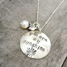 You Are My Sunshine Necklace You are my by TickleBugJewelry