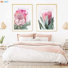 Watercolor Protea Print Yellow Flower Picture Australian Native Flower Wall Art Canvas Painting for Bedroom Home Decor Framed – AliExpress - Modern Flower Painting Canvas, Painting Frames, Canvas Wall Art, Bedroom Canvas, Protea Art, Protea Flower, Yellow Flower Pictures, Yellow Flowers, Art Flowers