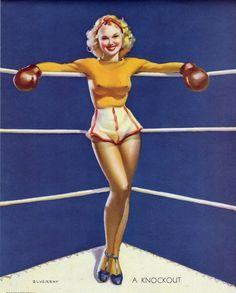 vintage Boxing girl