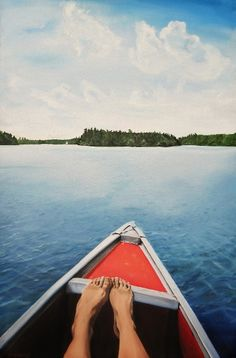 """""""Lake Naomi""""  Oil on canvas. 36 x 24 inches. 2007"""
