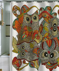 Four Owls Shower Curtain