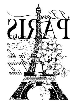 Great Paris Eiffel Tower image floral music notes typography Reversed and ready for transfer onto furniture or home accessories Just have it printed on a Laserjet printer. Torre Eiffel Paris, Paris Eiffel Tower, Tour Eiffel, Image Paris, French Typography, Typography Quotes, Etiquette Vintage, Foto Transfer, Images Vintage