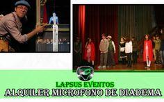 alquiler de microfono de diadema teatro niños mujeres actores grabar
