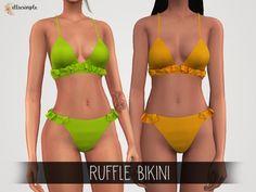 The Sims 4 Elliesimple - Ruffle Bikini