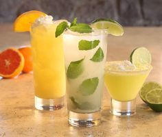 Orange Dreamsicle, Coconut Mojito and Key Lime Martini recipes.  OH YUM!!!