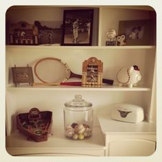Vintage sports nursery   look what I did from pinterest   Pinterest     Splash of Decor   Vintage Sports Room