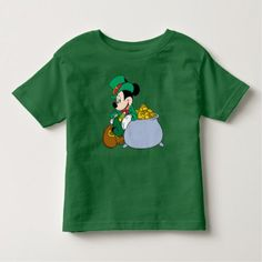 Shop Mickey Mouse Pot of Gold St Paddys Day, St Patricks Day, Toddlers And Tiaras, Pot Of Gold, Disney Mickey Mouse, Dark Colors, Tshirt Colors, Colorful Shirts, Mens Tops