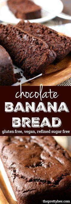 #recipes #desserts #food #chocolate #bananas #bananabread #vegan #glutenfree #sugarfree #bread