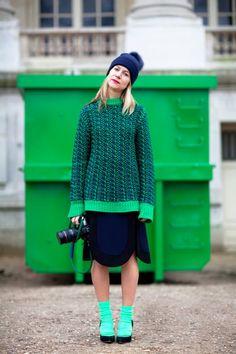 fashion-streetstyle:  (via This Is Paris «Mr. Newton) NATALIE JOOS