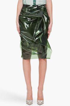 Marc Jacobs Dark Green Sara Skirt | Womens Clothing