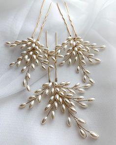 Wire Jewelry Designs, Handmade Wire Jewelry, Diy Crafts Jewelry, Bead Jewellery, Hair Jewelry, Bridal Jewelry, Beaded Jewelry, Wedding Hair Accessories, Jewelry Accessories