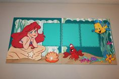 This is an adorable page for any album ( Disney, Birthday, Princess ). This layout features Ariel and her friends from the Disney classic The Little Mermaid. Disney Scrapbook Pages, Scrapbook Sketches, Scrapbook Page Layouts, Scrapbook Paper Crafts, Scrapbooking Ideas, Birthday Scrapbook, Baby Scrapbook, Scrapbook Cards, Travel Scrapbook