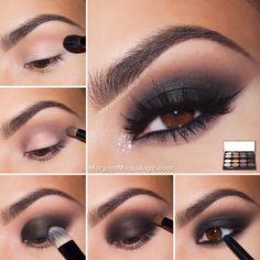 Chicas aquí tienen un smokey eyes para la noche paso a paso y se ve súper fácil y lo puedes hacer con paletas muy económicas by les gusta el maquillaje comenten en la parte abajo por favor!!!