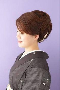 「髪型 アップ 着物」の画像検索結果